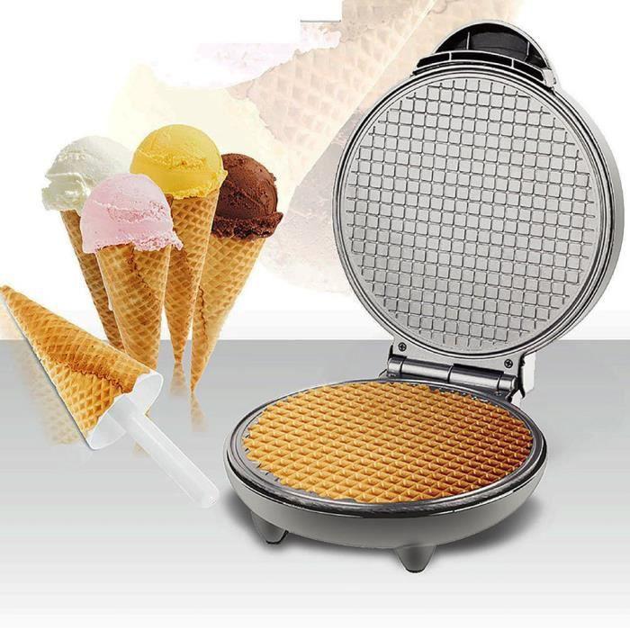 1200 W Machine à Gaufres domestique antiadhésive pour Rouleau d'oeuf, Rouleau de crème glacée, Fabrication de crêpes