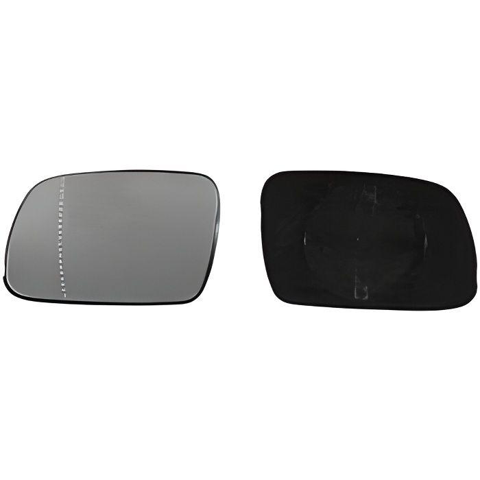 Miroir Glace rétroviseur gauche pour PEUGEOT 307 phase 1, 2001-2005, asphérique, à clipser, Neuf.