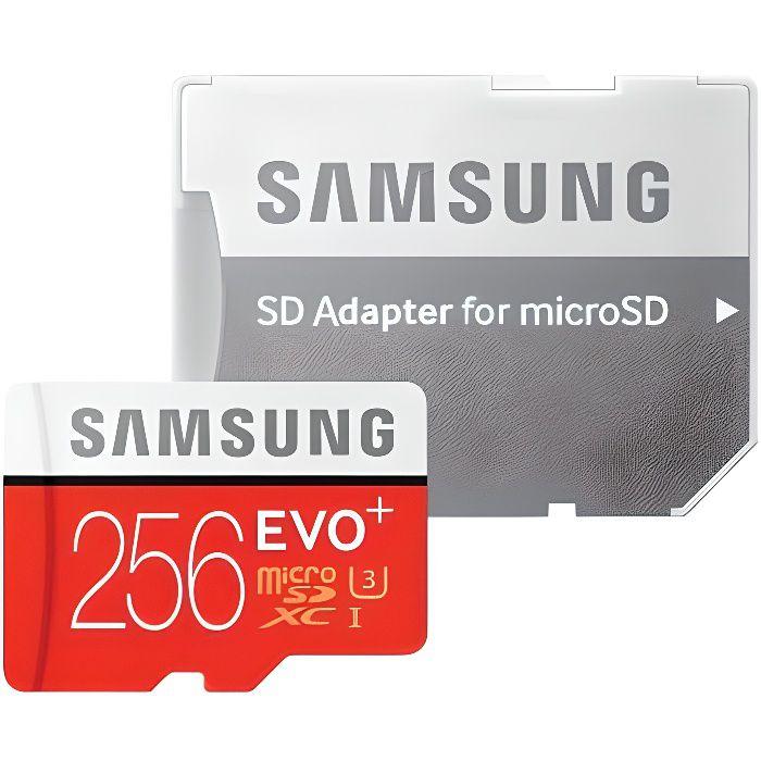 Samsung Evo Plus Carte mémoire avec adaptateur Sd Microsdxc Uhs I Classe 10 256 Go