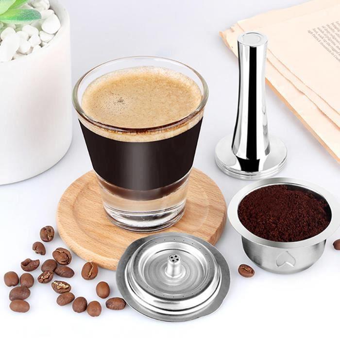 Sonew filtre de capsule de café Accessoire de kit de filtre de tasse de capsule de café réutilisable d'acier inoxydable de 230 ml