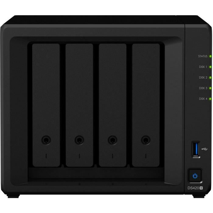 SYNOLOGY - Serveur de Stockage (NAS) - DS420+ - 4 Baies - Boitier nu