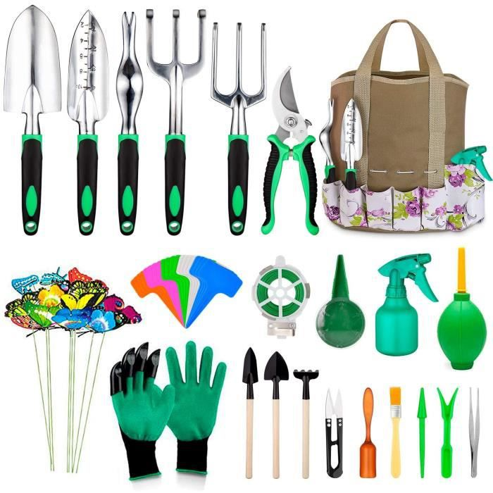 Outils de Jardin,82 en 1 Kits de Jardinage Outils de Bonsaï pour Le Soin des Plantes d'intérieur et d'extérieur, Cadeau de Jardin