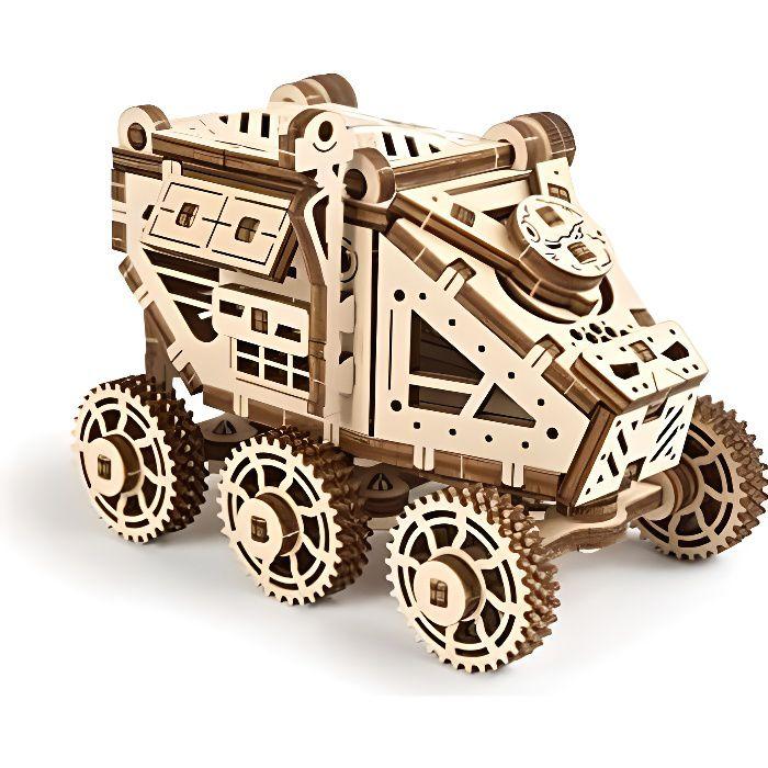 mars buggy - puzzle en bois 3d auto-assemblage facile - kits de construction laser découper en bois - maquette a construire adulte e
