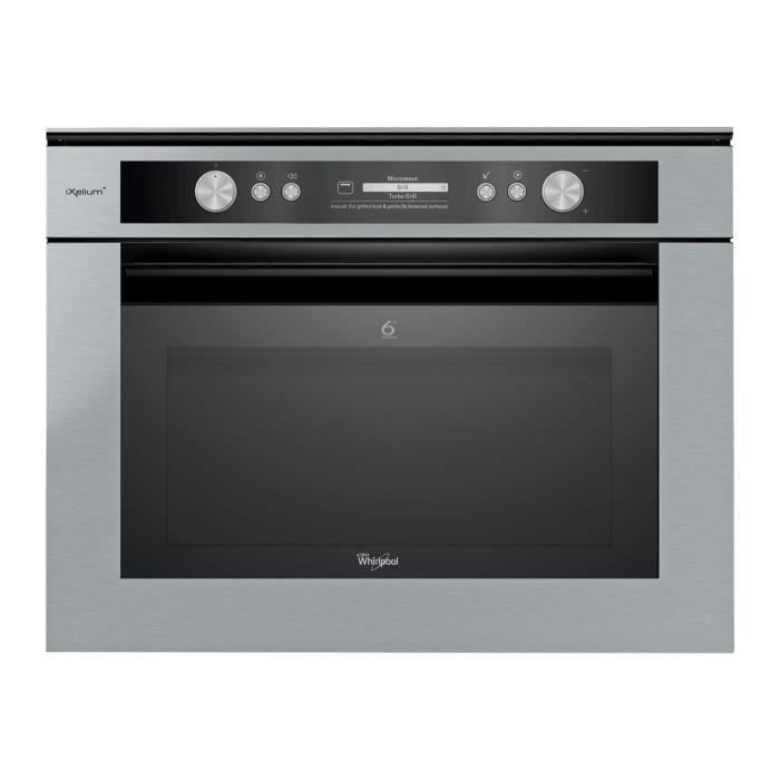 Whirlpool Fusion AMW 836-IXL Four micro-ondes combiné grill intégrable 40 litres 900 Watt inox