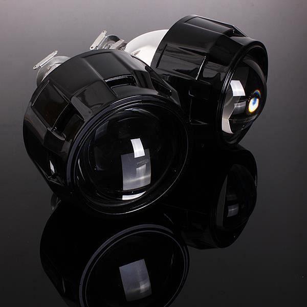 HT28615-Paire 2.5 RHD Bi-Xénon Hi-Lo HID Projecteur Lens Angel Eye CCFL Halo H1 H4 H7