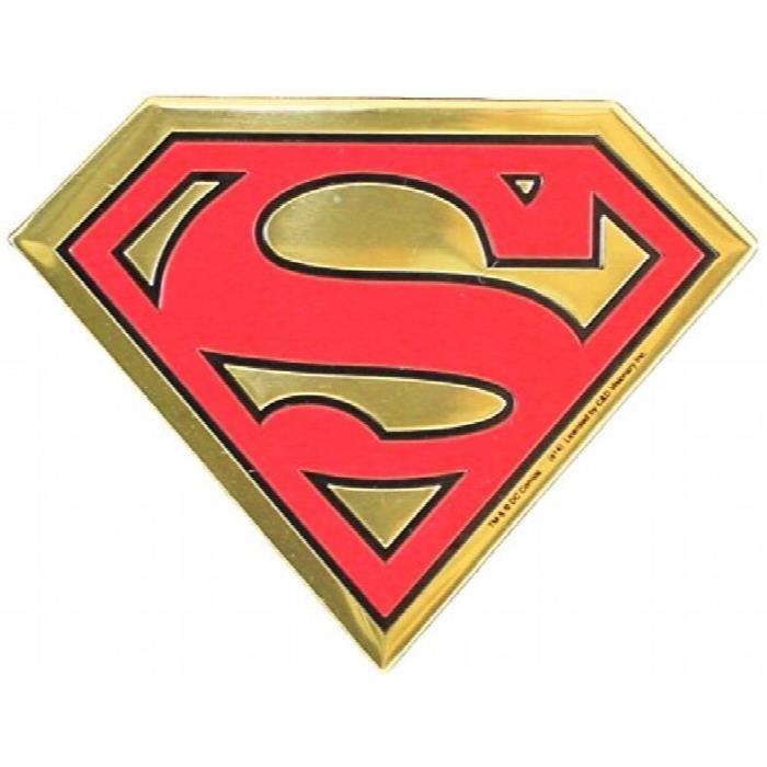 Dc Comics Originaux Superman Logo En Metal Embosse Autocollant D