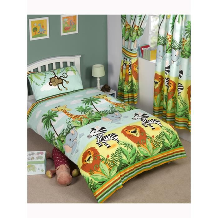 Jungle housse de couette junior achat vente housse for Housse de couette junior