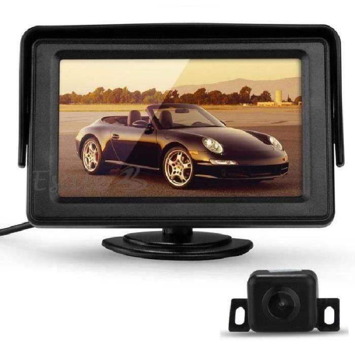 LED Cam/éra de Recul Vision Nocturne Voiture Auto Tiret 4.3 LCD Ecran Moniteur Rearview