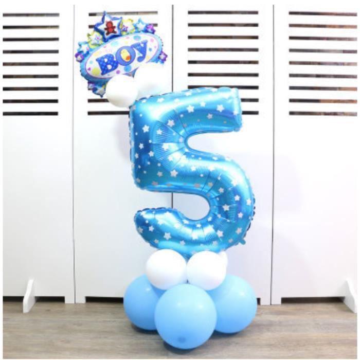 Joyeux Anniversaire Ballons chiffres Décorations Bannière Garçons Gradient filles