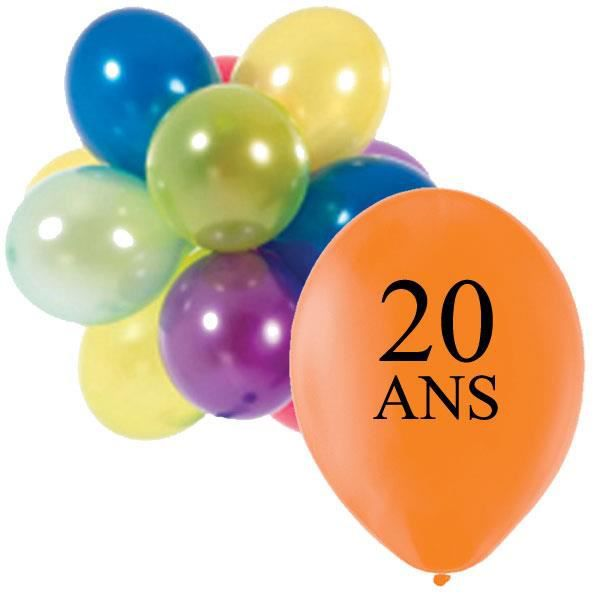ballons de baudruche anniversaire 20 ans achat vente. Black Bedroom Furniture Sets. Home Design Ideas