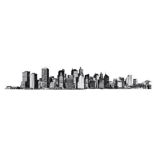 Frise murale adh sive new york achat vente papier for Decoration murale geante new york