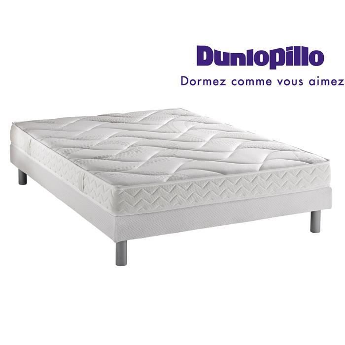 ensemble dunlopillo matelas aero grand confort sommier pieds 140x190 achat vente. Black Bedroom Furniture Sets. Home Design Ideas