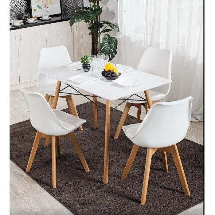 Blanc 4 Places BAITA Hans Table /à Manger