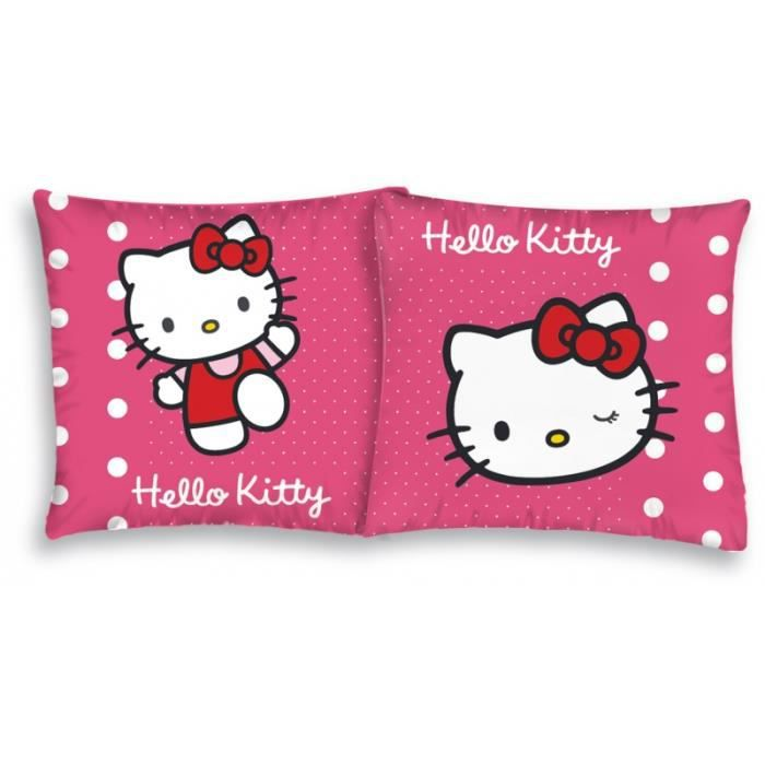 Housse de coussin hello kitty 40 x 40 achat vente for Housse de voiture hello kitty