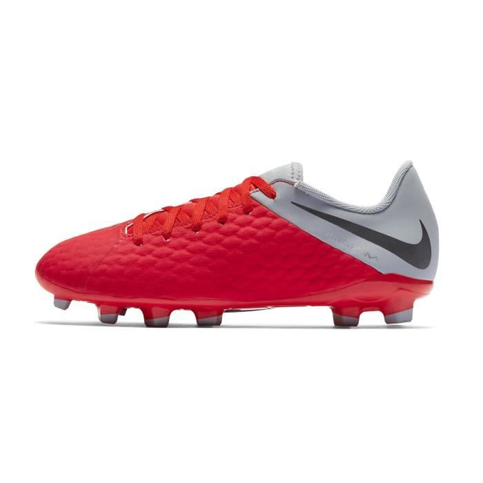 61704c7d4e7 Chaussures football Nike Hypervenom Phantom III Academy FG Rouge-Gris Junior