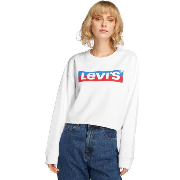 Levi's® Femme Hauts Sweat & Pull Graphic Raw Cut Crew New Logo