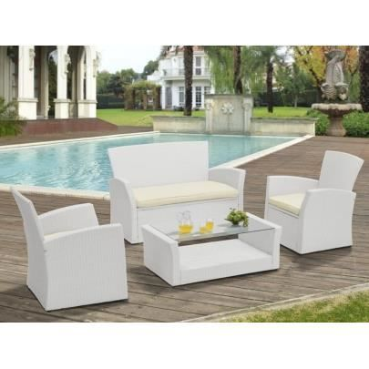 salon de jardin algarve en resine tress e blanche achat vente salon de jardin salon de. Black Bedroom Furniture Sets. Home Design Ideas