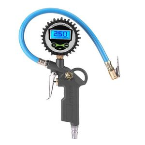 Pistolet gonfleur pneumatique alu pneus manomètre précision flexible 400 mm