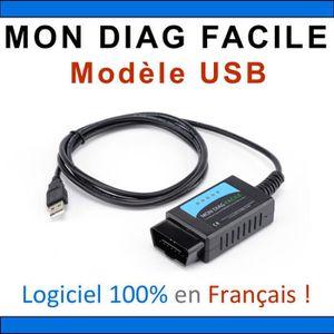 OUTIL DE DIAGNOSTIC MON DIAG FACILE - ELM327 - Version USB - Fabricati