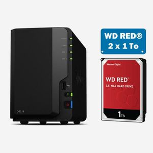 SERVEUR STOCKAGE - NAS  Synology DS218 WD RED 2To