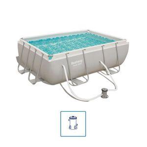 PISCINE Bestway Jeu de piscine Power Steel Rectangulaire 2