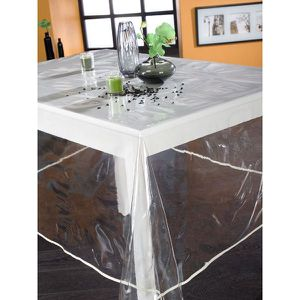 translucide pvc plast nappe ronde tran achat vente nappe de table cdiscount. Black Bedroom Furniture Sets. Home Design Ideas
