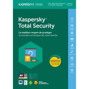 ANTIVIRUS Kaspersky Total Security 2018 5 Postes - 1 An -