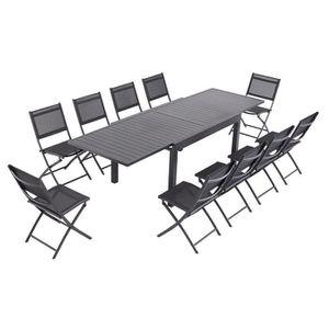 Ensemble table et chaise de jardin Laxllent Table de Jardin Extensible 135/270cm en A