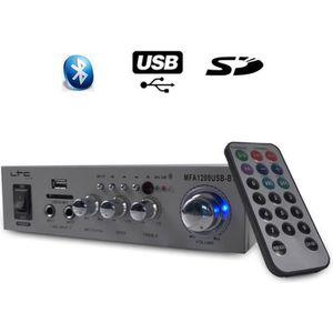 AMPLIFICATEUR HIFI Ampli MFA1200-BT LTC Karaoké Hifi 100W USB/BT Silv