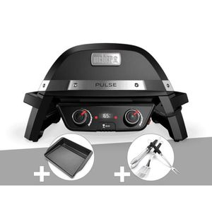 BARBECUE  	Barbecue électrique Weber Pulse 2000 + Plancha +