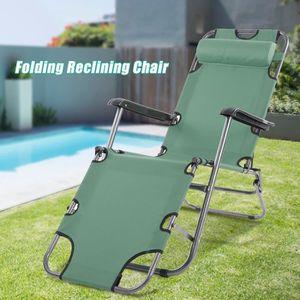 FAUTEUIL JARDIN  Fauteuil  Inclinable Lounge chaise Portable Pliant