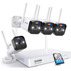 CAMÉRA IP ZOSI Kit Caméra IP WIFI 1080p 8CH H.265+ NVR Disqu