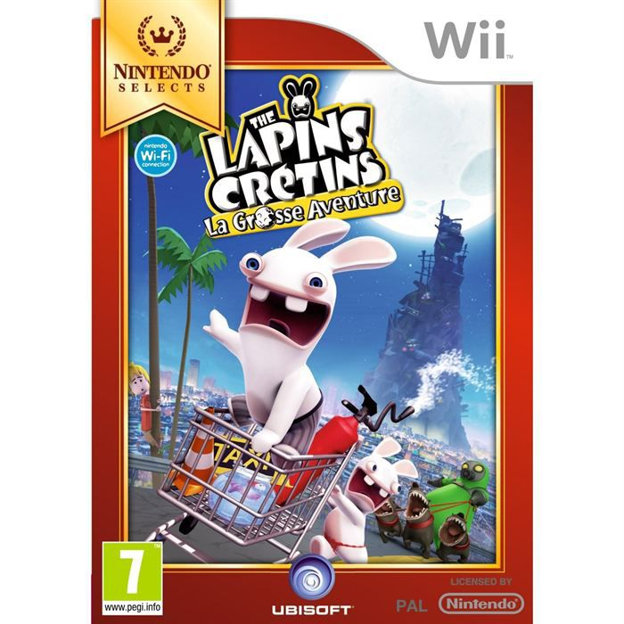 lapins cretins la grosse aventure special wii achat vente jeux wii lapins cretins la. Black Bedroom Furniture Sets. Home Design Ideas