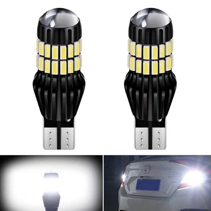 Feux de recul pour Audi A3 8P A4 B8 B6 RS5 A6 C5 C6 C7 A7 A8 Q5 Q7 S4 S5 S6, ampoule Canbus 1400LM led T15 921 W16W LED [9C451B6]