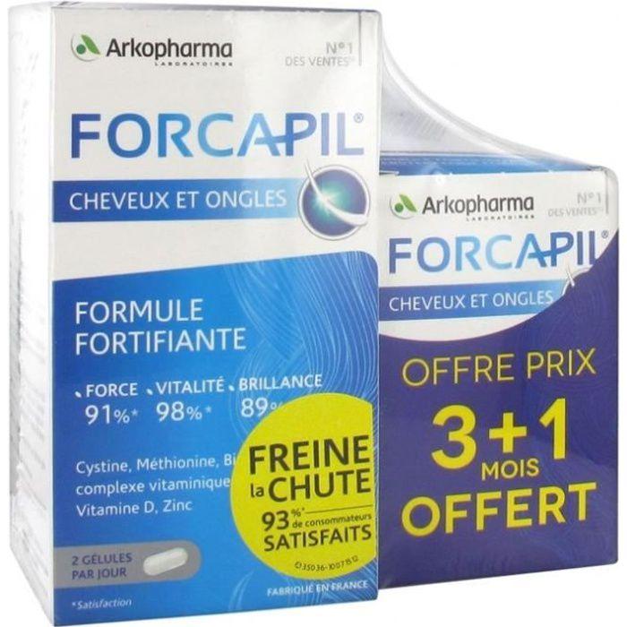 ARKOPHARMA FORCAPIL FORMULE FORTIFIANTE CHEVEUX ET ONGLES 180 + 60 GELULES