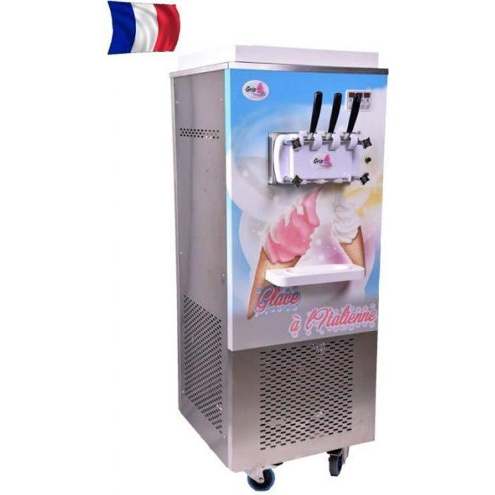 Machine à Glace Italienne sur roulettes - 2 parfums et 1 mixte -