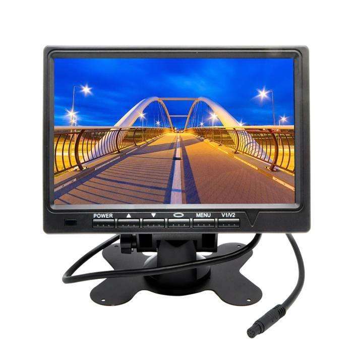 7 pouces HD 800 * 480 TFT couleur LCD écran vue arrière de voiture caméra moniteur pour caméra de recul arrière parking sauvegarde