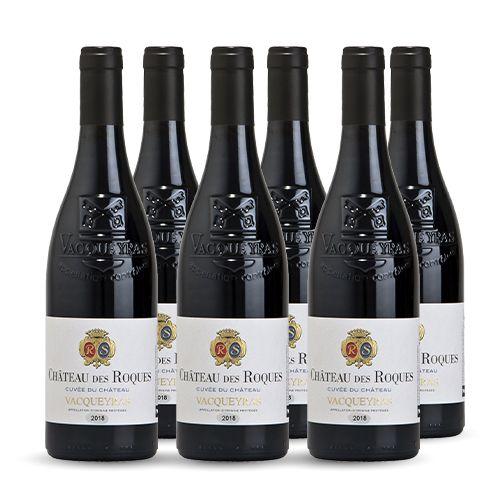 6 bouteilles - Vin rouge - Tranquille - Chateau des Roques Cuvée du Château Vacqueyras Rouge 2018 6x75cl