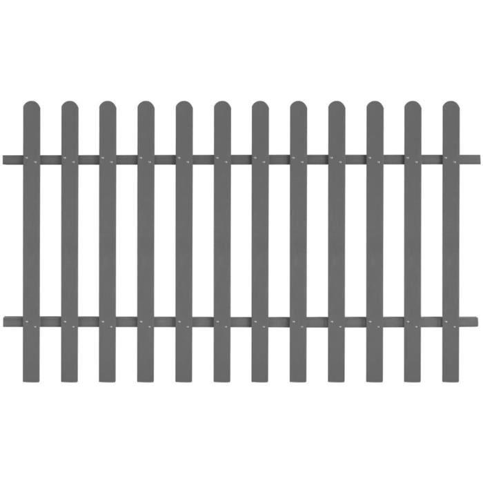 Clôture à piquets Grillage WPC 200 x 120 cm