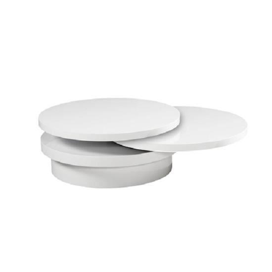 Table Basse Moderne et Design LOFT Laqué Blanc