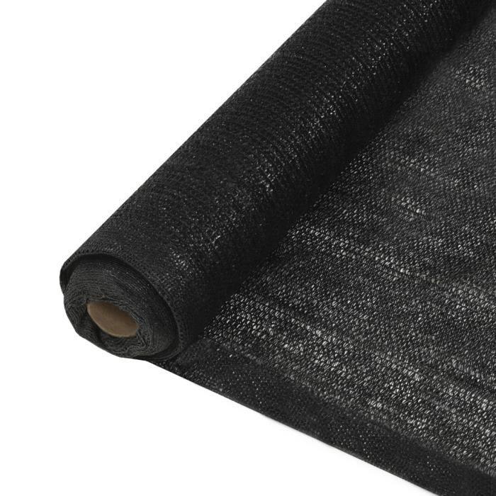 Filet brise-vue PEHD 1,5 x 25 m Noir