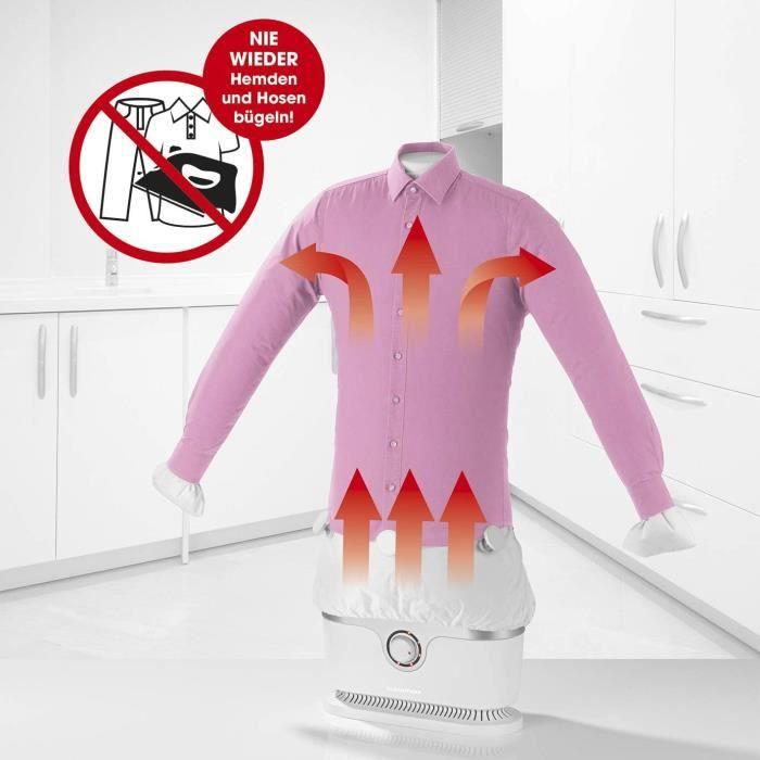 CLEANmaxx repasseuse automatique de chemises sèche et repasse automatiquement - Machine à repasser entièrement automatique pour...