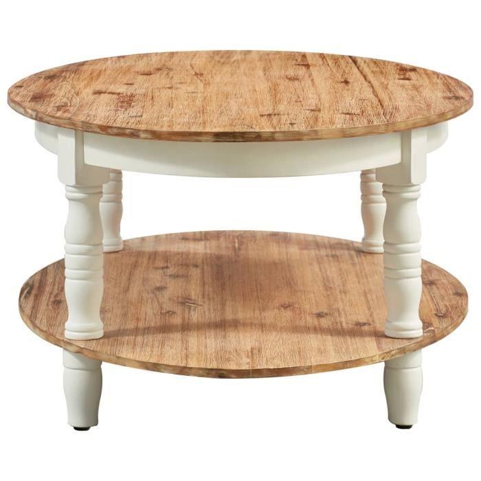 Style Élégance Chic - Table basse style Scandinave - Bout de canapé Table à thé 102x62,5x42 cm Bois d'acacia solide - 28656