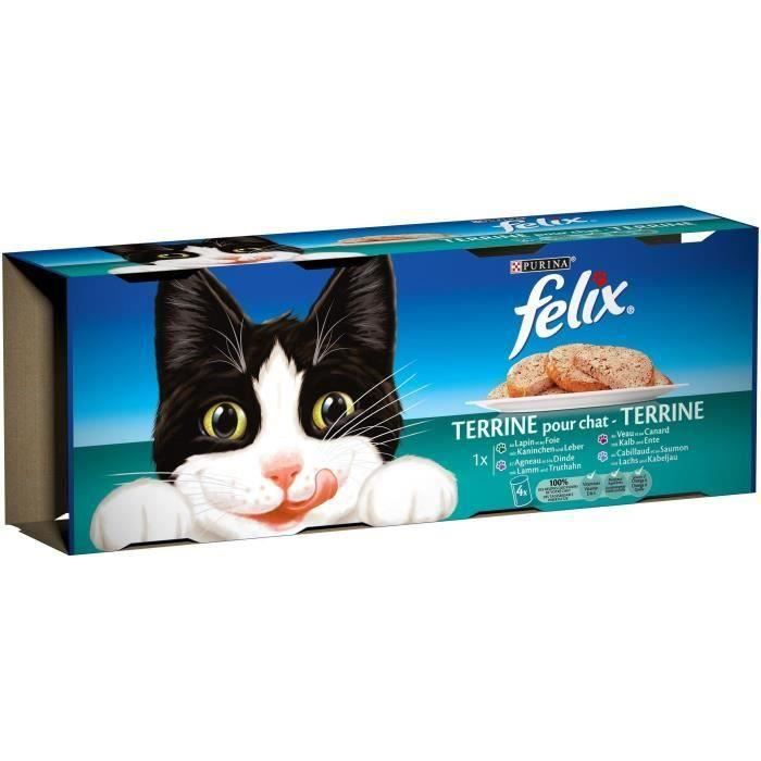 FELIX Terrines - Viandes et poissons - Pour chat adulte - 12 x 400 g