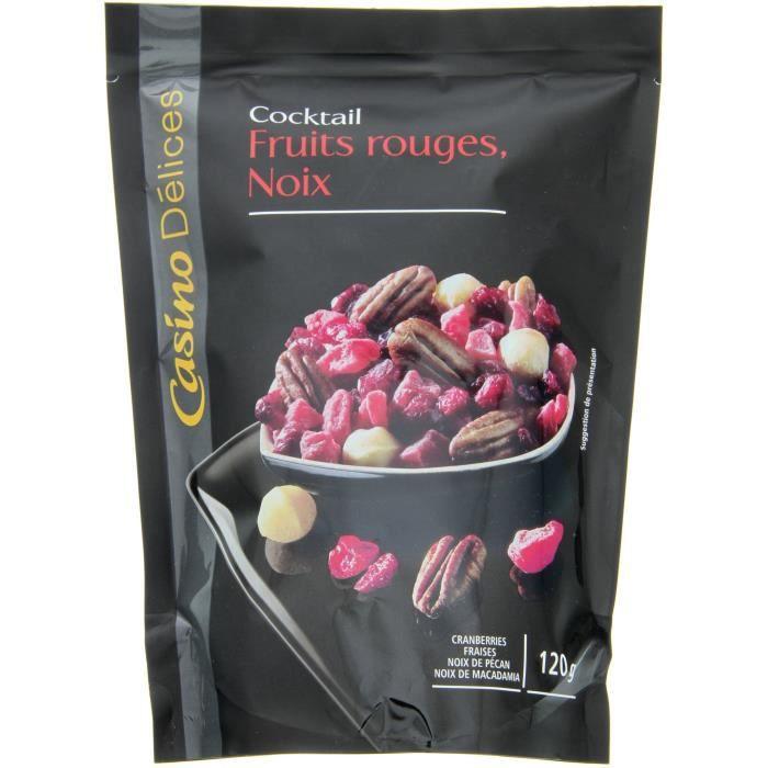 CASINO DELICES Mélange Fruits rouges & Noix - 120g