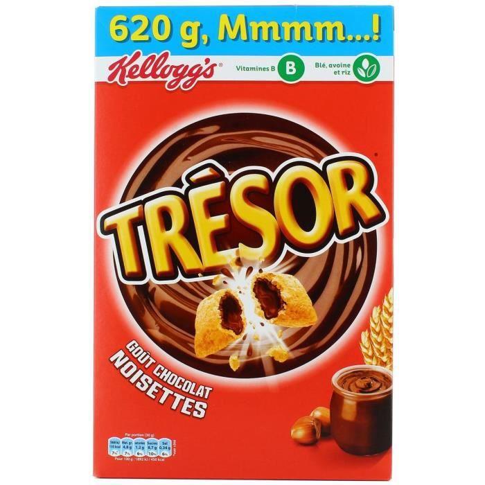 KELLOGG'S Céréales Trésor Chocolat Noisette - 620 g