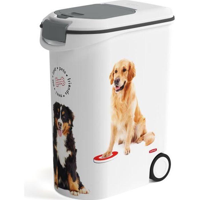 Curver Récipient alimentaire à roulettes pour chiens 54 L