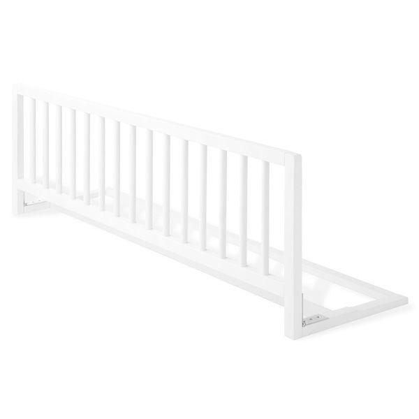 Barrière pour lit en hêtre massif, coloris blanc