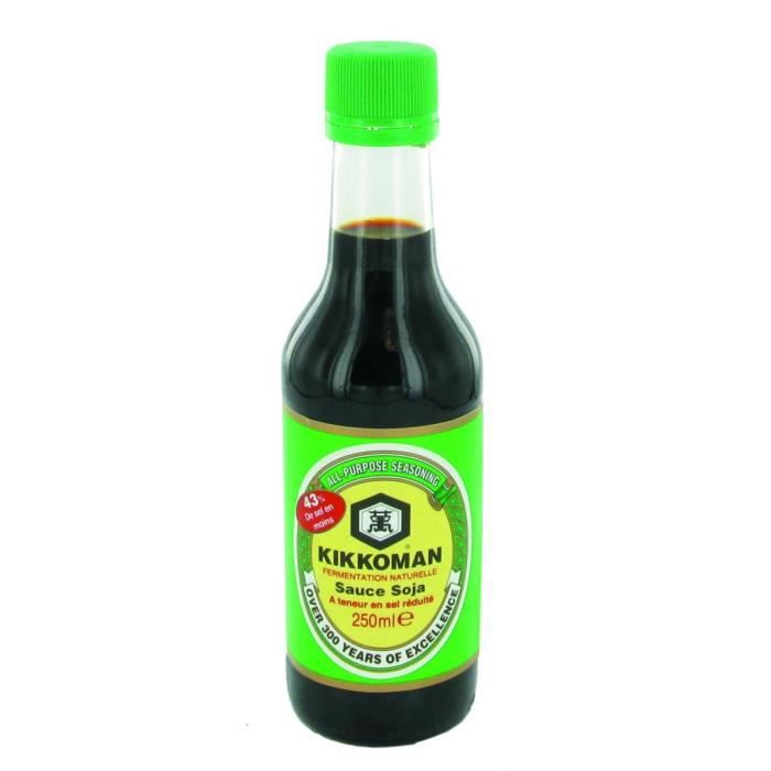 Sauce de soja allégée en sel Kikkoman 250ML (salée) - 6 bouteilles