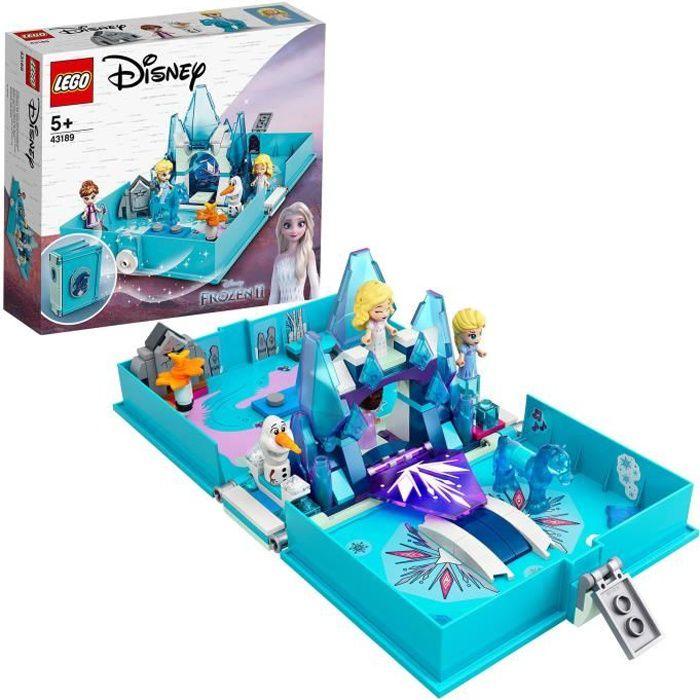 LEGO® Disney Princess™ 43189 La Reine des neiges 2 Les aventures d'Elsa et Nokk dans un livre de contes, Jouet créatif pour enfants